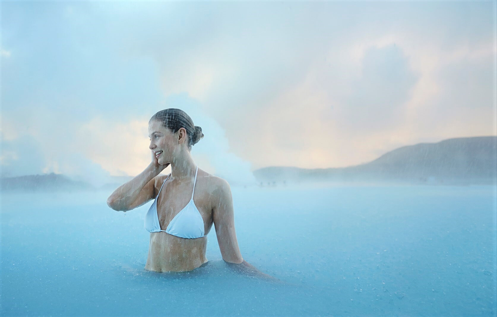 Blue lagoon spa on Iceland