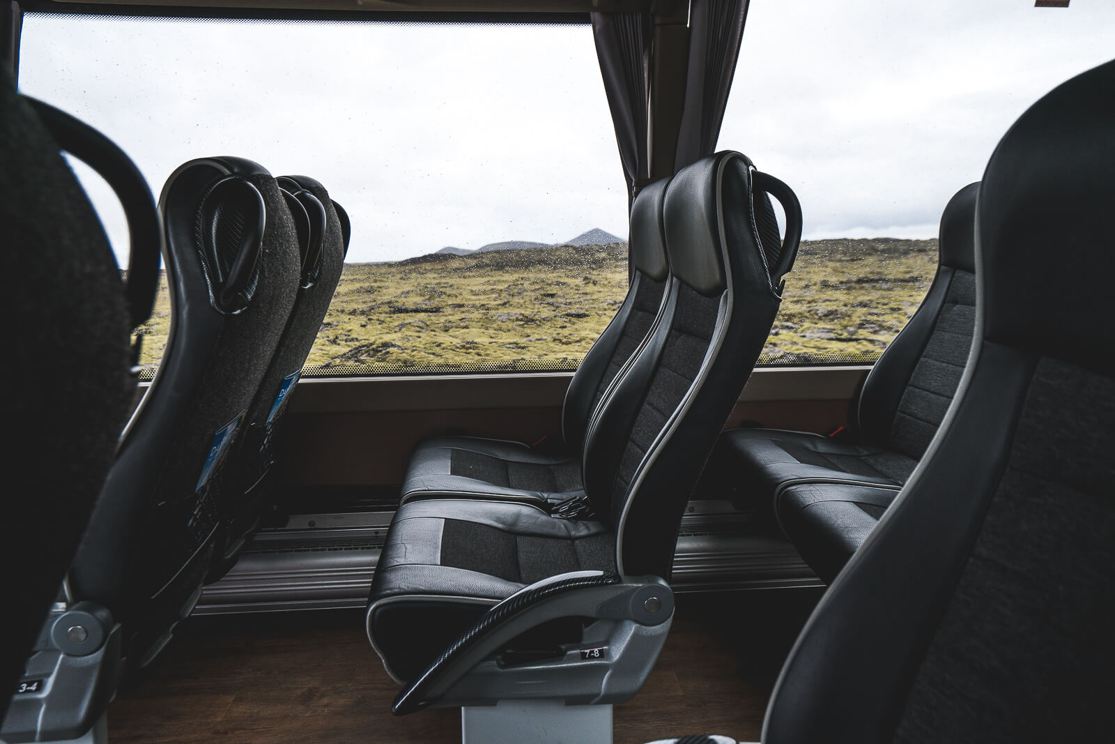 Bus seats to the Blue Lagoon on Iceland