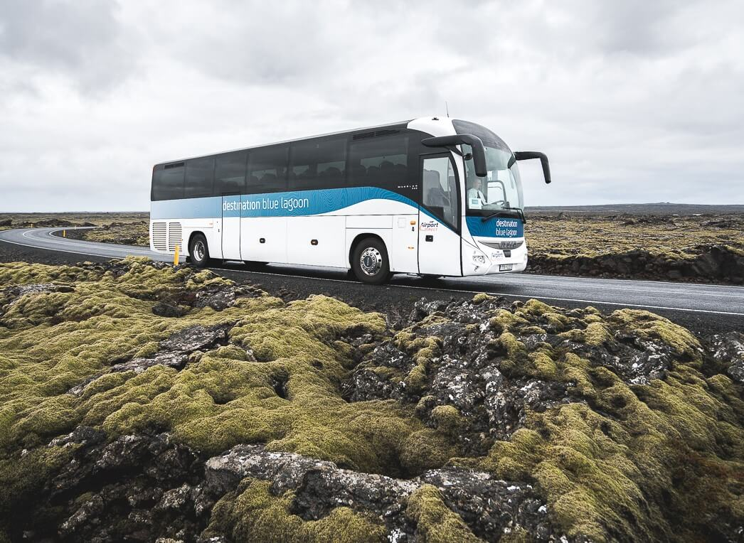 Bus in Iceland to Blue Lagoon