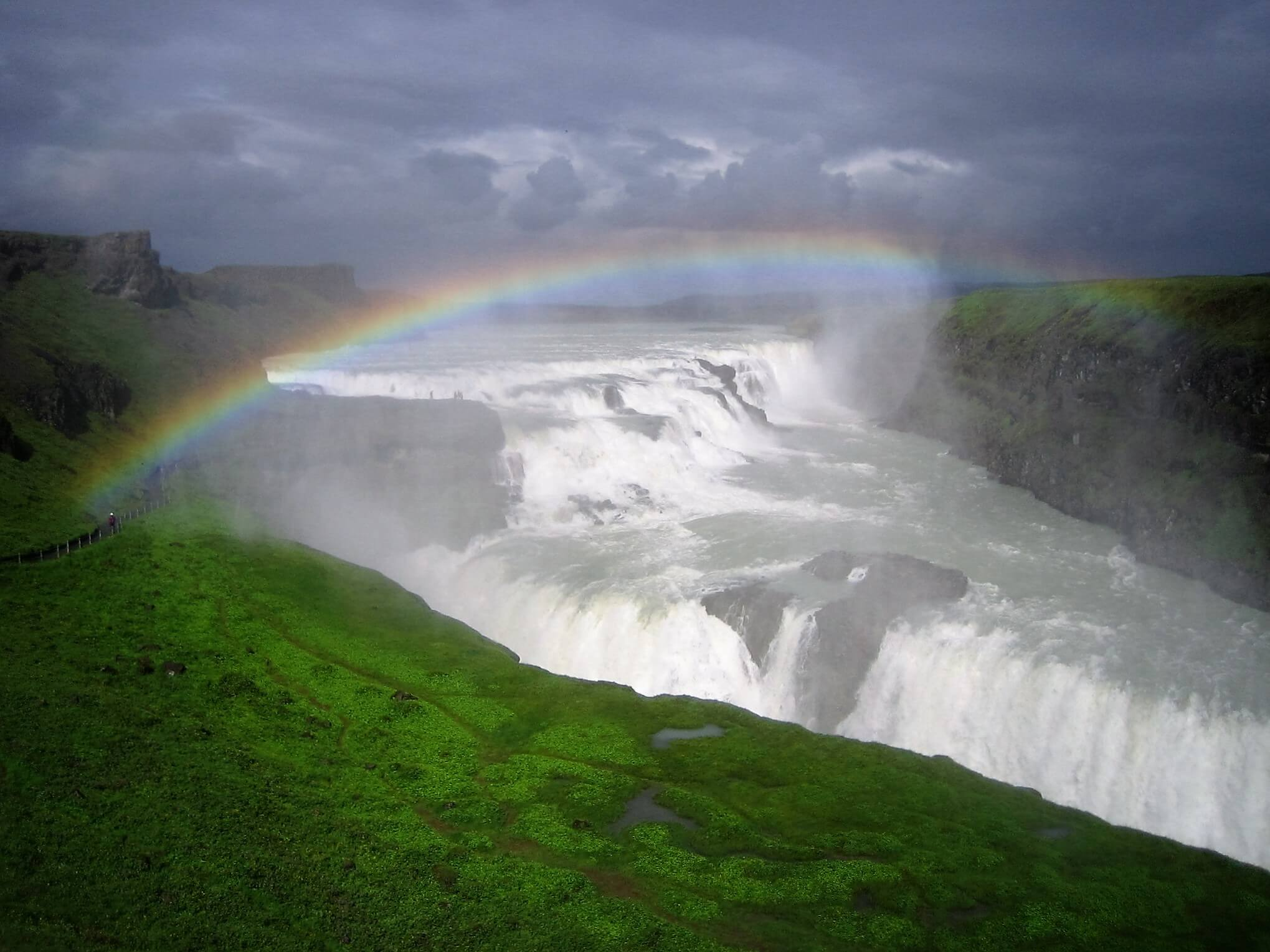gullfoss waterfall and golden circle