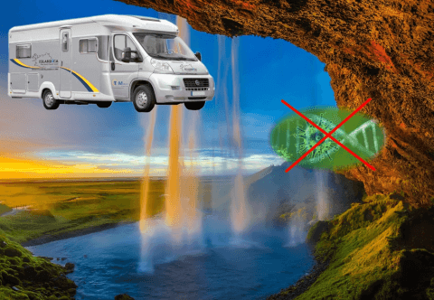 Take a coronavirus free holiday in Iceland by motorhome. one to three weeks with no crowds and your own accommodation.