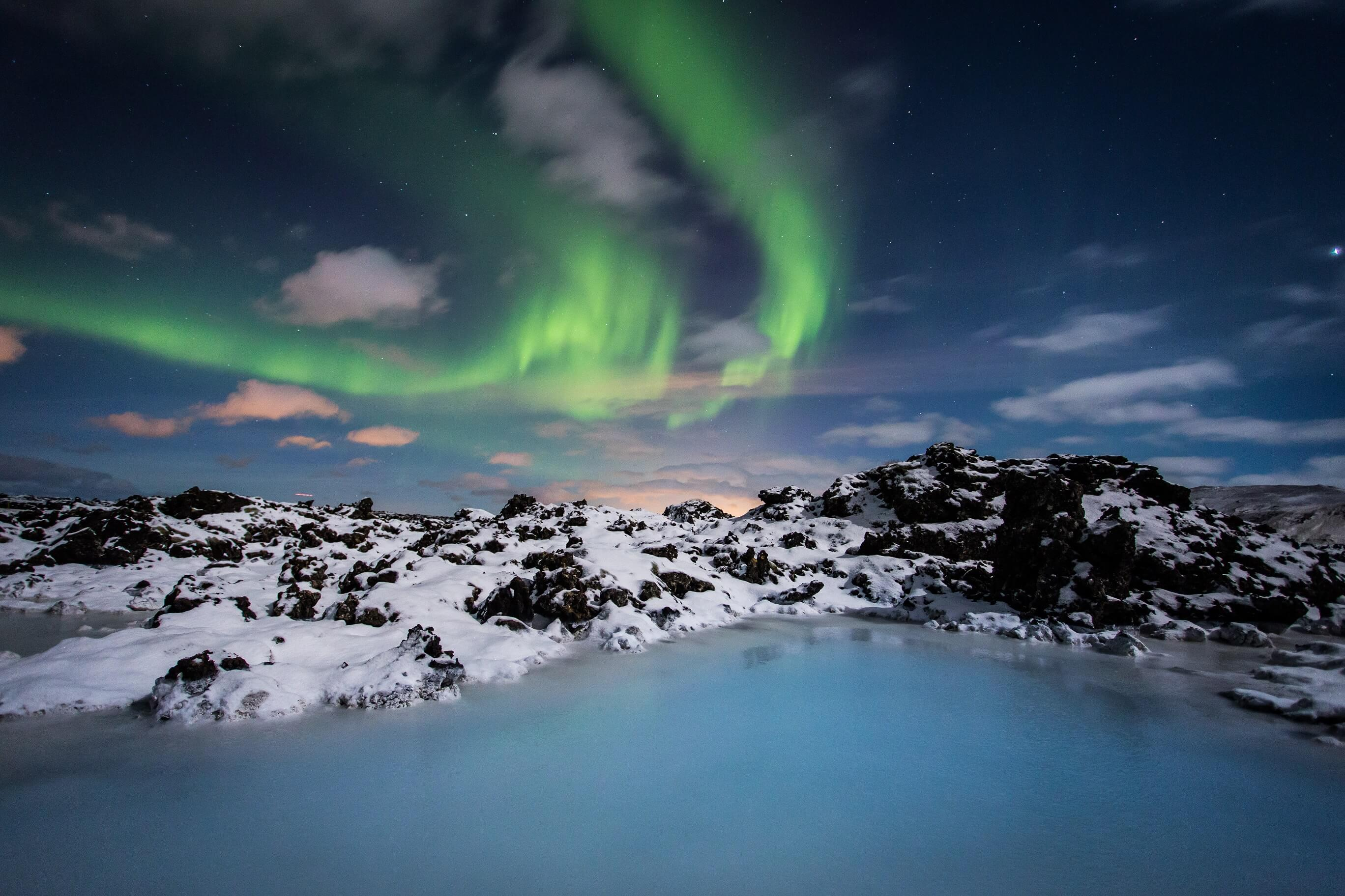 Blue Lagoon and Northerh Lights on Iceland