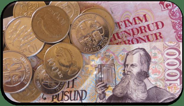 Dinero islandés - precios en Islandia