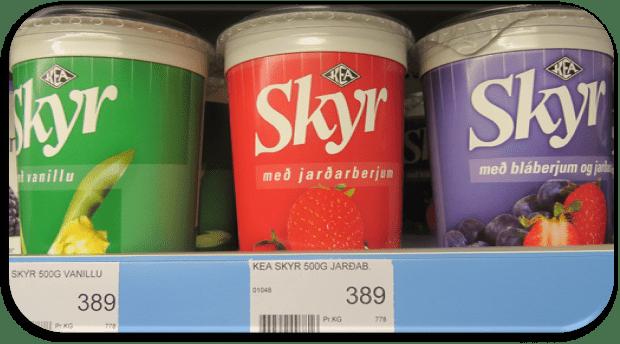 precios en supermercados en Islandia - Skyr