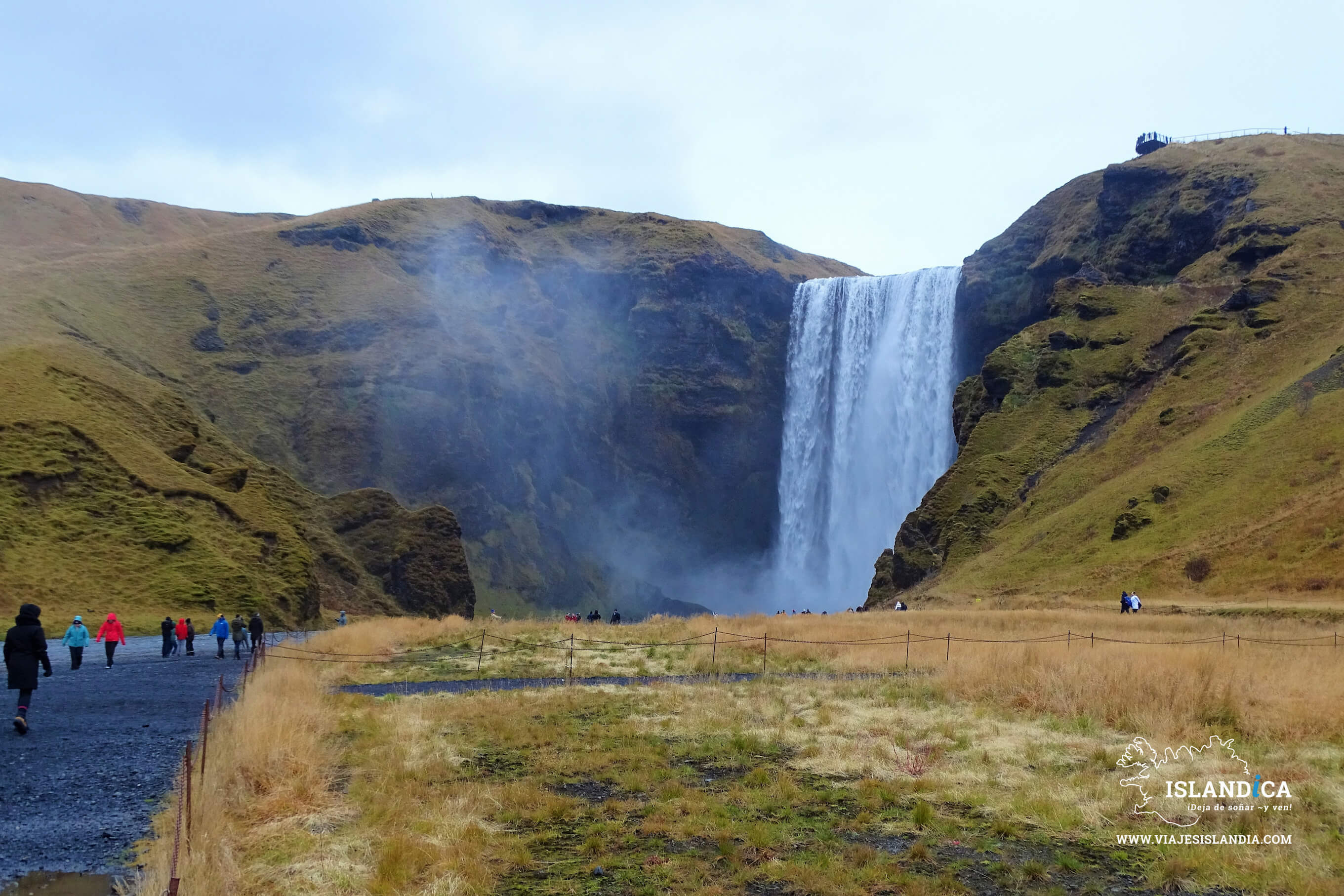 Waterfall Skogafoss in the South of Iceland.