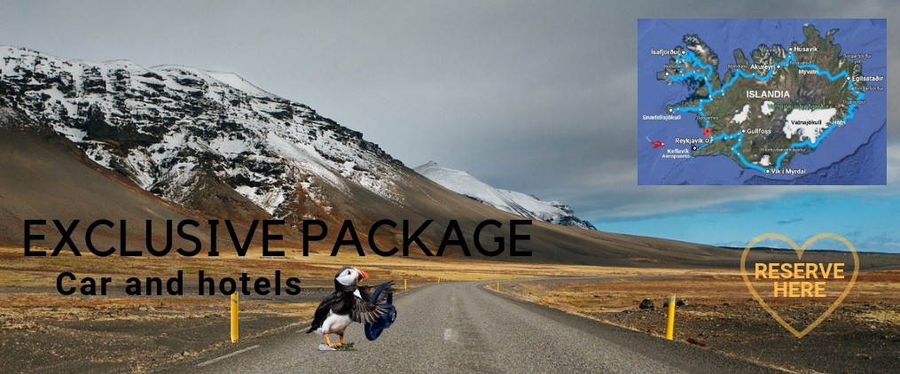 Accommodation and car package Iceland Circuit in 7 days