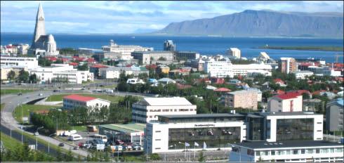 vista panorámica de Reykjavík